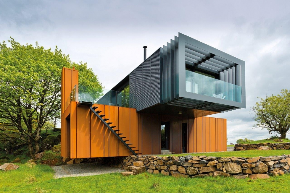 Patrick bradleys 39 shipping container house kildress plumbing omagh cookstown northern ireland - Grand designs shipping container home ...