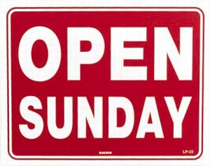 OPEN SUNDAY 15TH & 22ND MAY