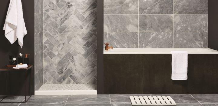 Original Style Castel Grey Marble Herringbone