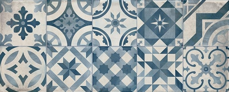 Montblanc Blue Decor 20 x 50 Wall Tile CT13